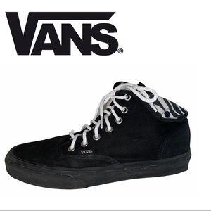 Vans Black Zebra Print Sneakers
